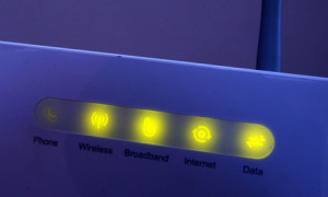 lights on a broadband router