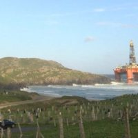 Beached Oil Rig