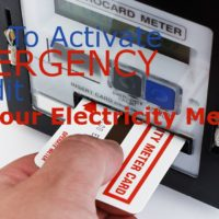 emergency credit electricity meter