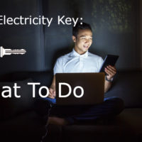 lost electricity key