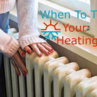 when to turn heating on uk